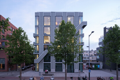 Graphic designers put their talents to the design of a bold new office building in Amsterdam