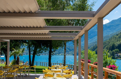 Le pergole Pratic sul Lago di Ledro