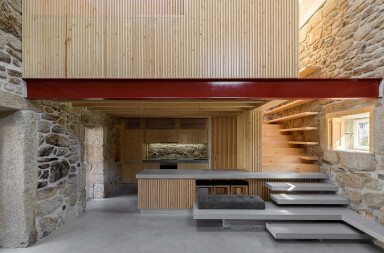 Rural house in Portugal transformed into contemporary loft-like space