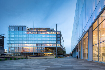 Renzo Piano Building Workshop completes transparent triangular structure for Paris Bar Association