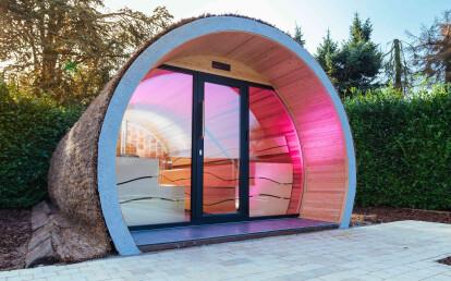 24-person outdoor traditional sauna
