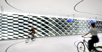 In the Hague, bike parking takes on a museum-like experience