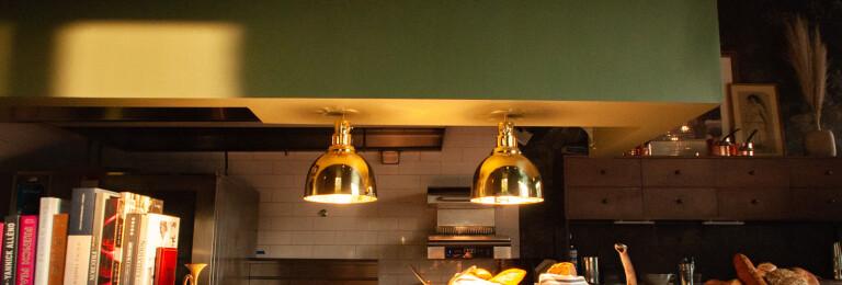 An open kitchen creates a sense of home.