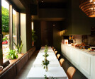 Intimate 18-seat dining room