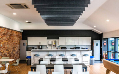 Freestyle acoustic ceiling baffles