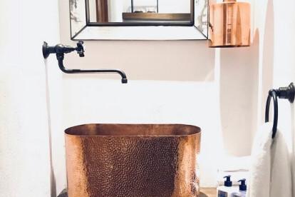 Amoretti Brothers Copper Bathroom Sink