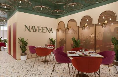 Naveena Modern Indian Restaurant Design