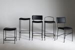 dita range; junior, backless, upholstered back, open back, chair