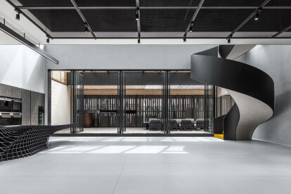 No. 9 Rhapsody office design inspired by science fiction movie settings
