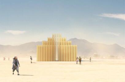 Mausoleum of Revelations. Burning Man installation