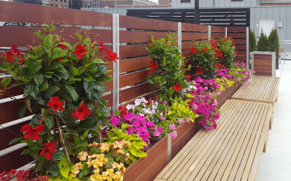 Mariner Multi-section Planter Wood Screen Wall