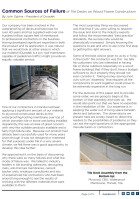 White Paper | Common Sources of Failure in Tiled Decks