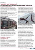 White Paper | Walkable and Waterproof