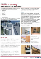 White Paper | The D's of Decking