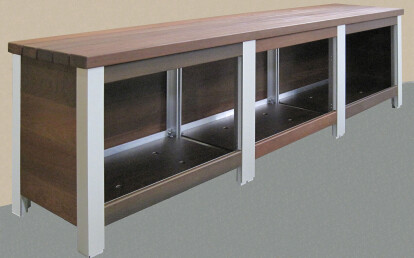 The Perfect Bench with shoe cubby