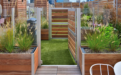 Mariner Commercial Wood Planters With Gates