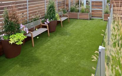 Mariner Multi-Section Commercial Planter Roof Deck Dog Park Enclosure Screen Walls