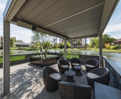Enjoy an outdoor café feel in the water