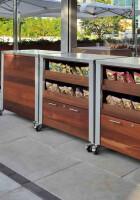 Custom Weatherproof Restaurant Food Service Carts