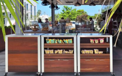 Custom Weatherproof Food Service Cart
