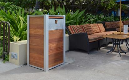 OPUS Custom Commercial Weatherproof Restaurant Trash or Recycling Bin