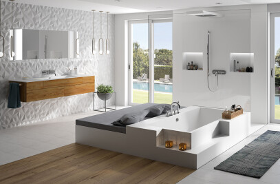 Bathroom solutions made of solid surface