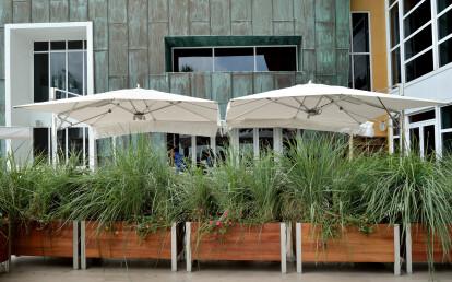 Custom Modular Mariner Restaurant Planters