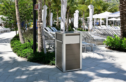 OPUS and Oahu Modern Commercial Recycling or Trash Receptacle