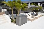 Custom Resort Pool Towel Storage Deck Box in no-maintenance recycled plastic lumber