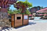 Custom Wood Resort Pool Towel Cart Enclosures for fresh and returned towels
