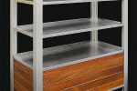 Large Custom Modern Open Cabinet for Spa Towels