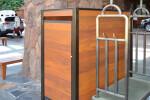 Custom Reception Area Cabinet for Room Service Tray Storage
