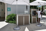 Custom Resort Pool Pool Towel Cabinet and lockable Weatherproof POS Kiosk