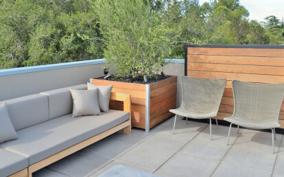 Mariner Commercial Large Wood Roof Deck Planter