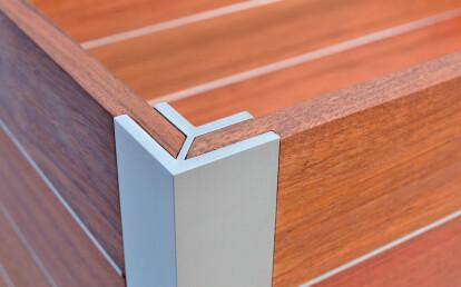 DeepStream Designs Mariner trademark marine anodized structural aluminum corner extrusion