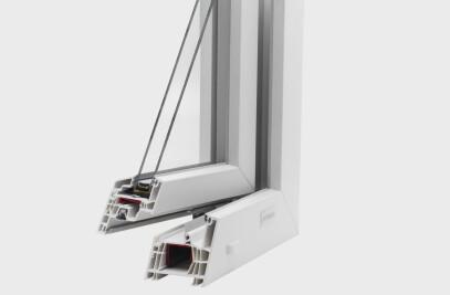High-performance PVC window