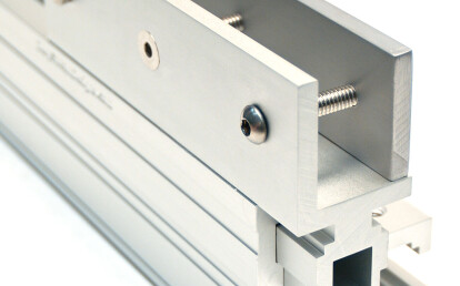 """If panel material is thicker than 1/2"""" and can not be routed it can be drilled and compression mounted"""