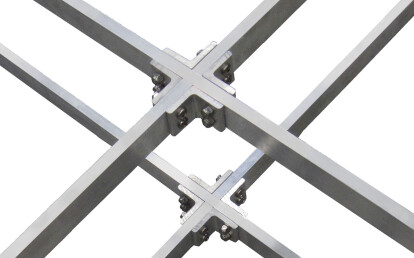 Structural legs accept cross bracing at any level