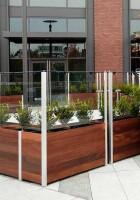 Planter Anchored Restaurant Screen Wall
