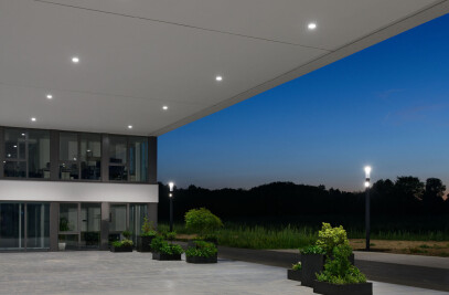 LED compact downlights for external On/Off or DALI power supply units