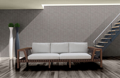 Wall covering in recycled yarns