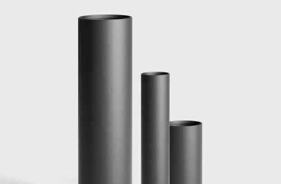 Bollard tubes for BEGA LED system bollards - Without components