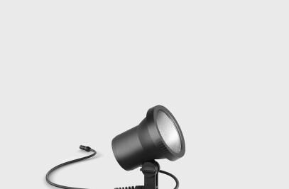 BEGA Plug & Play LED garden floodlights - Portable LED garden floodlights 48 V DC with earth spike · Directed light