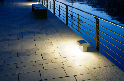 LED on-ground luminaire -Flat beam light distribution