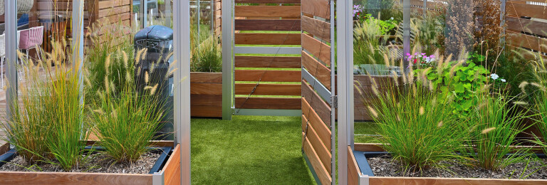 Mariner Commercial Planter Anchored Roof Deck  Screen Wall Dog Park Enclosure Gates