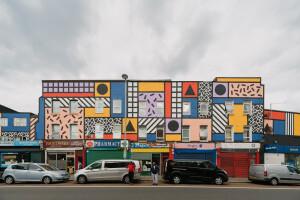 Camille Walala transforms East London street into vibrant public artwork