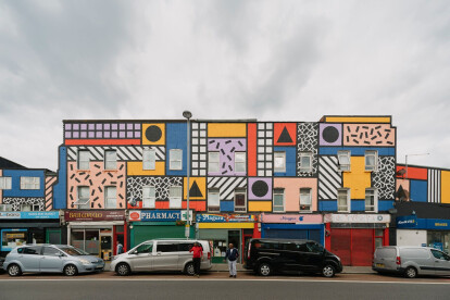 Camille Walala transforms East London street into vibrant public artwork