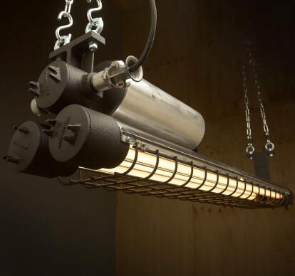 1300mm Vintage Black Explosion Proof Twin Tube Light