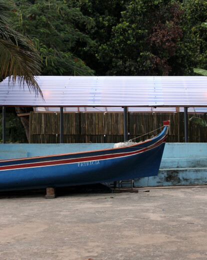 Beach kiosk and boat refuge