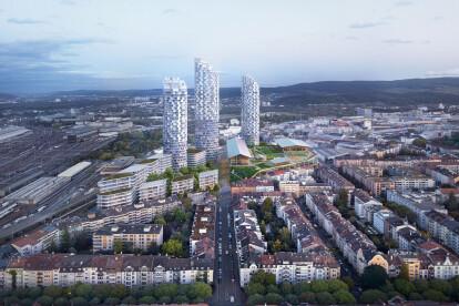 Herzog & de Meuron place school on top of shopping center in Basel as a showcase for innovative densification